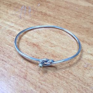 Tiffany silver love knot bangle bracelet
